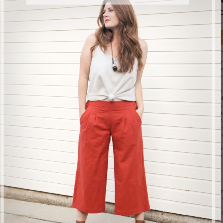 Pattern hack Emerson crop pant true bias