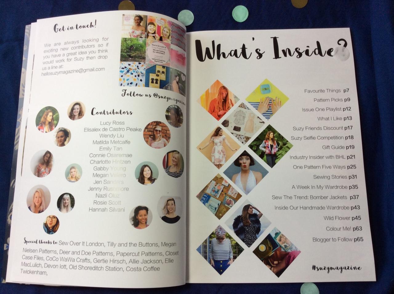 Suzy Magazine #suzyfriends sewn Dominique major rosabella