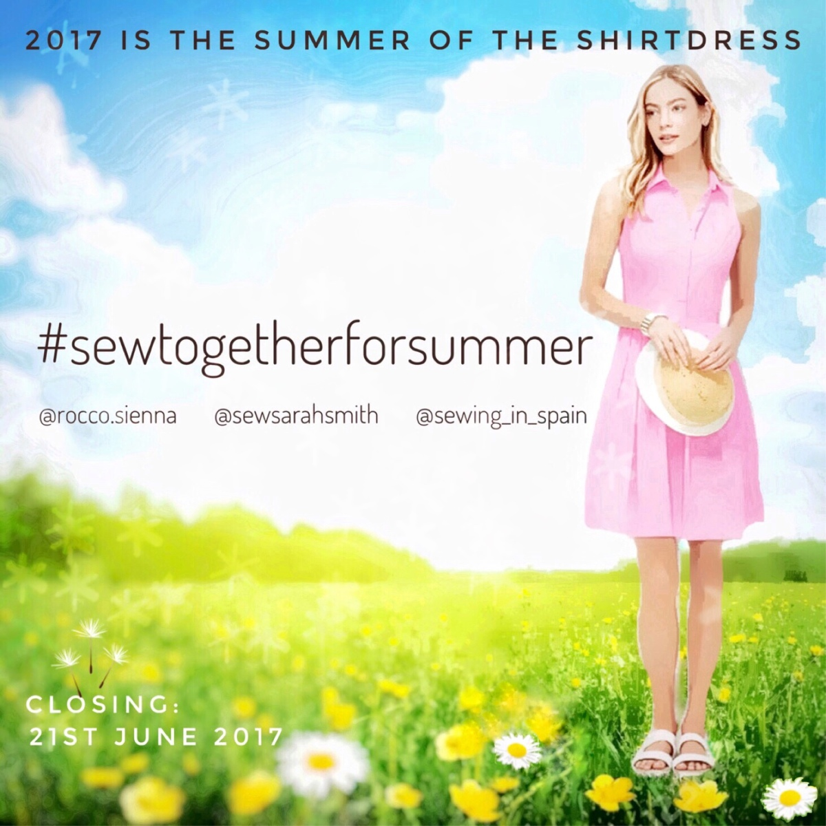 #sewtogetherforsummer 2017 - it's the Summer of the Shirtdress!