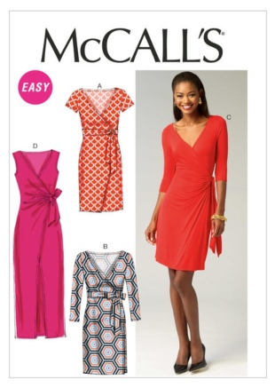 The Va Va Voom Wrap Dress Mccalls M6884