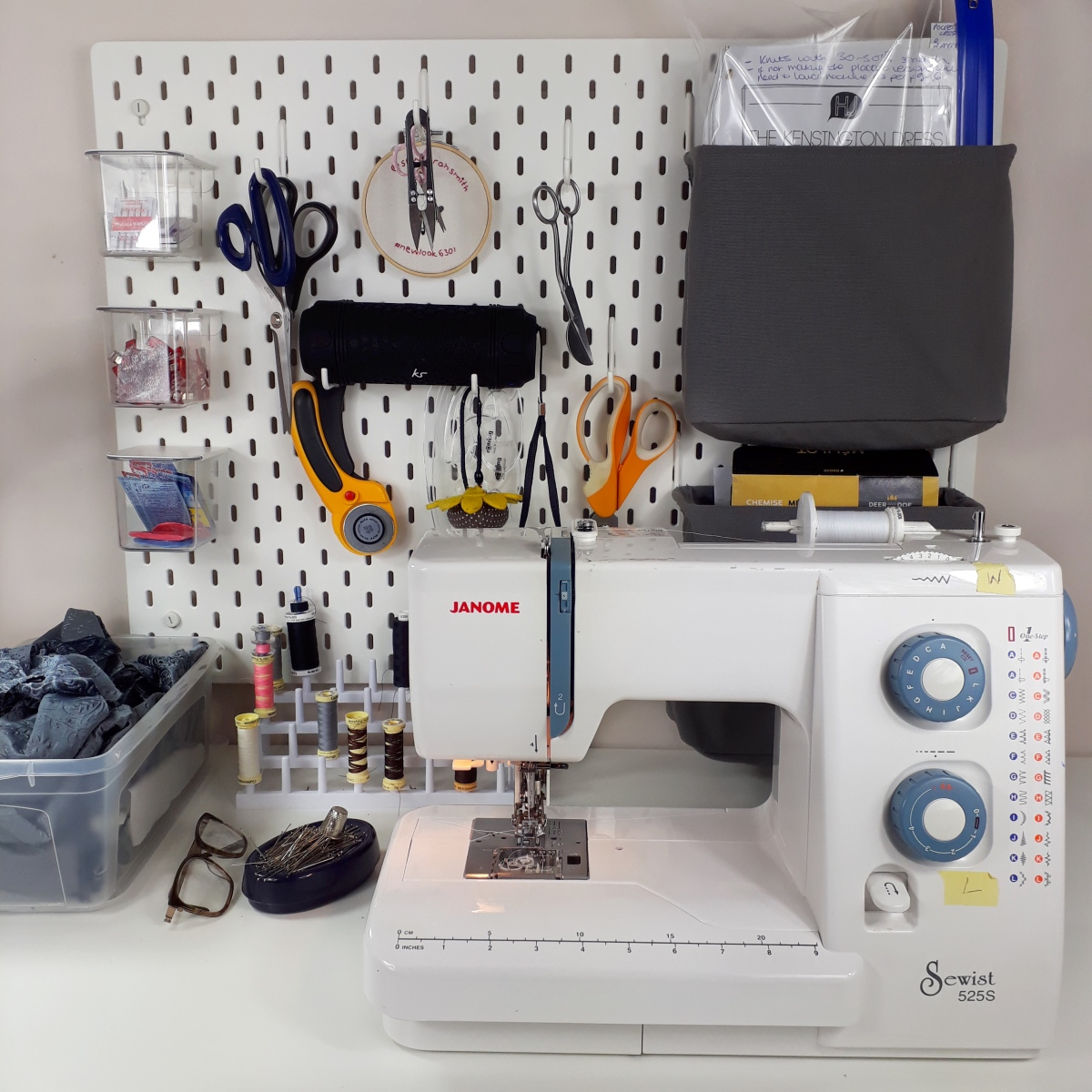 My Sewing Room Set Up + Tips for Sewing in a Small Space!