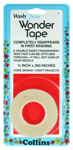 Dissolvable wash away wonder tape