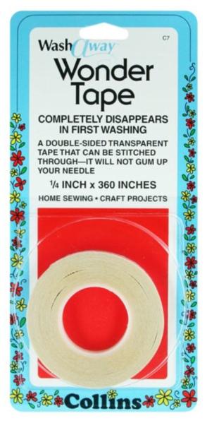 Dissolvable wash away wonder tape