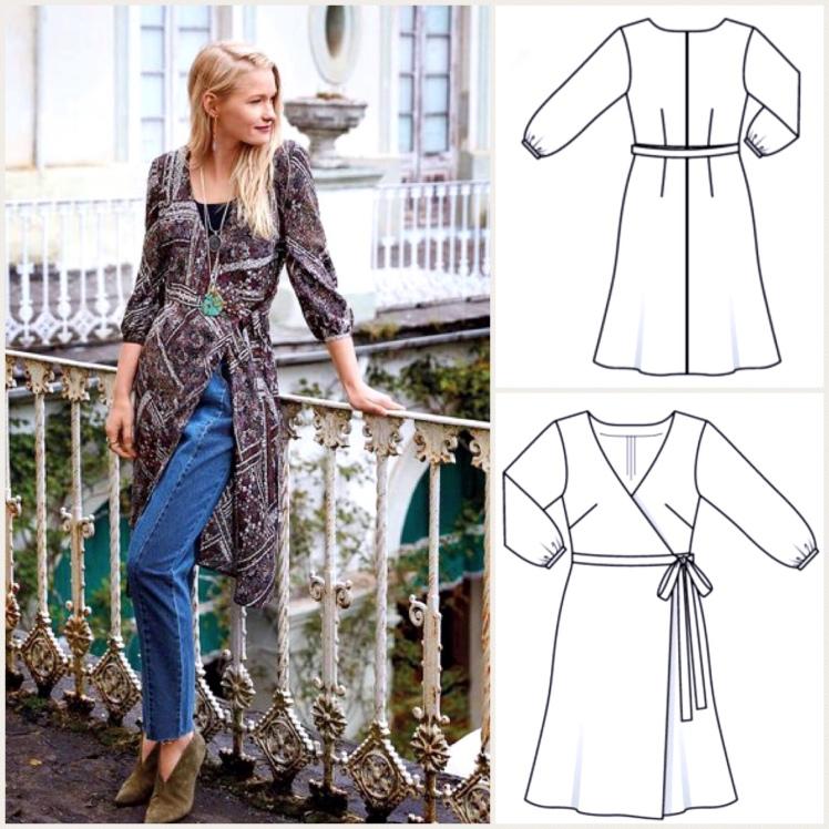 Burda and Big 4 : Our #sewtogetherforsummer Wrap Dress Pattern Picks ...