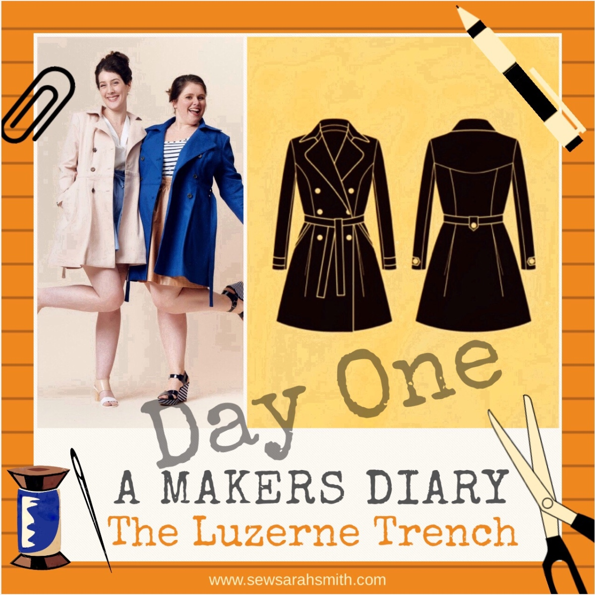 A Makers' Diary - The Deer & Doe Luzerne Trench Coat : Day 1