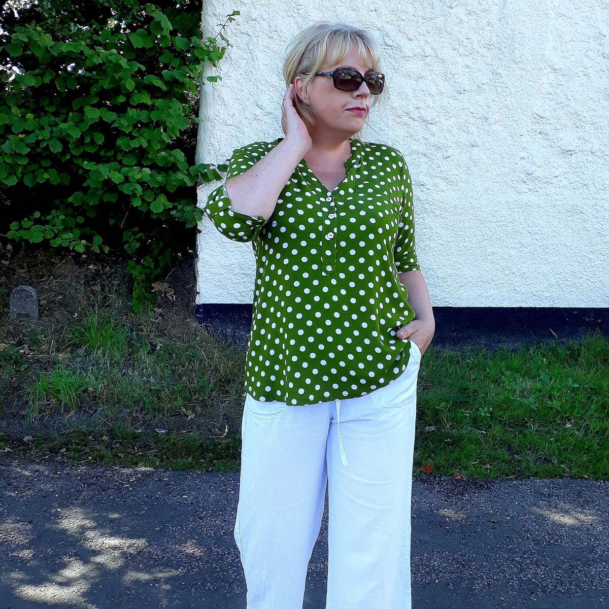 A Polka 'Cheyenne Tunic' by Hey June Handmade ... and a little bit about French Seams