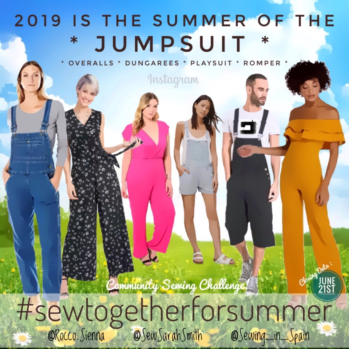 #Sewtogetherforsummer 2019 is here - and we're 'Jumping' for Joy!
