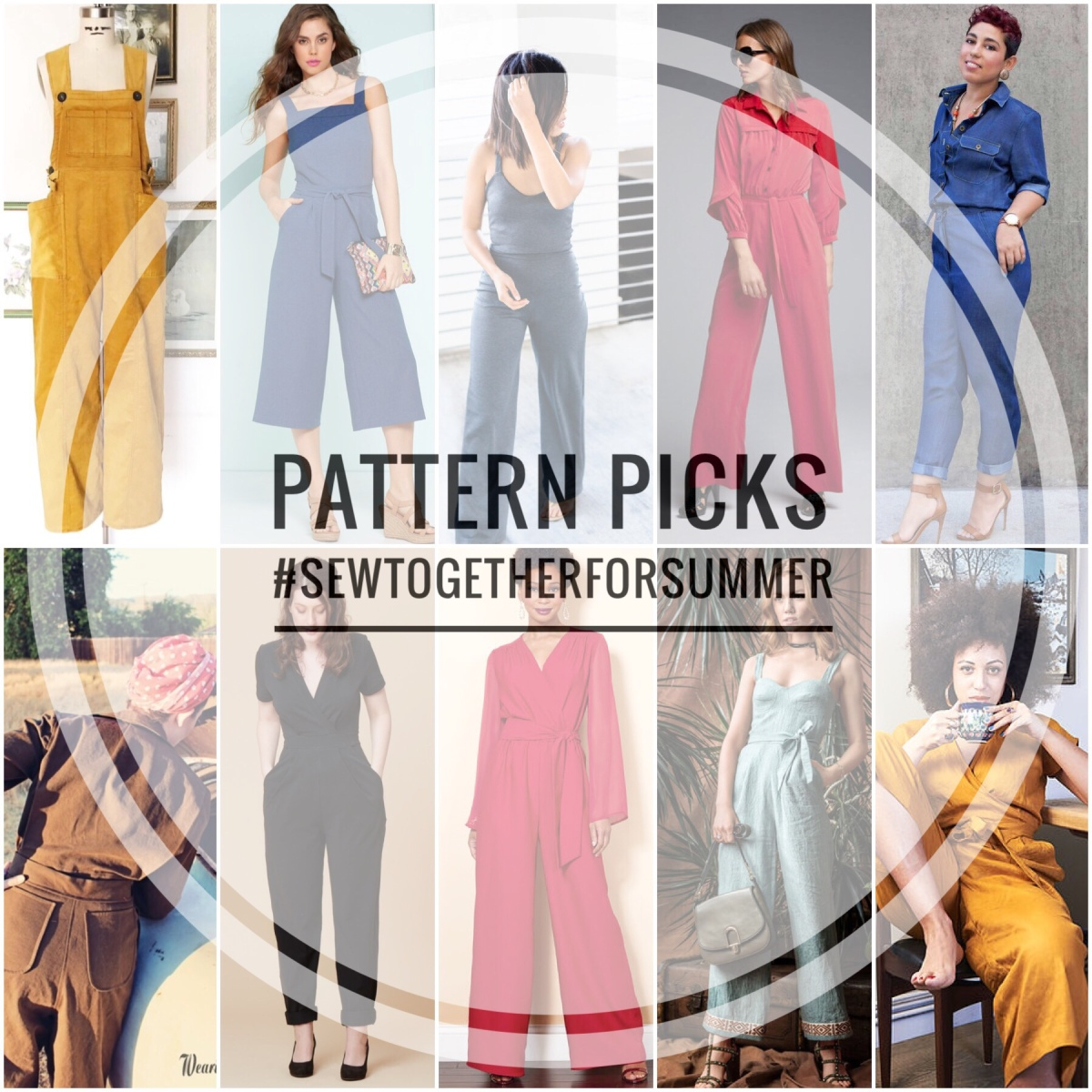#sewtogetherforsummer 2019 - Sewing Pattern Picks! Burda, Big4, Indie (& A load of Freebies!)